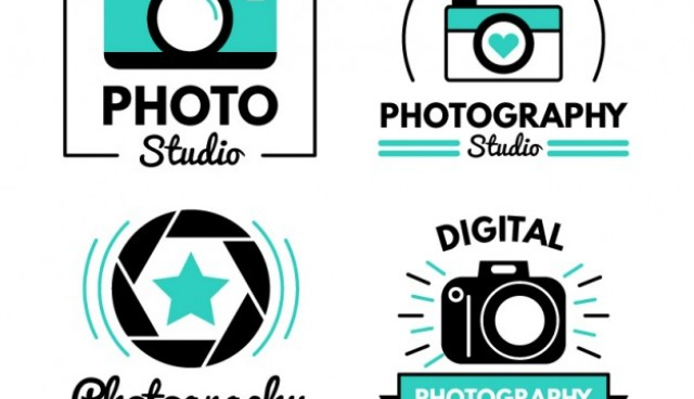 Modern cute photo studio logos  Vector |  Download