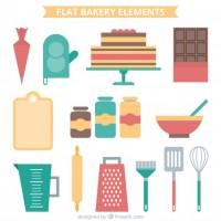 Bakery element set  Vector |  Download