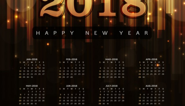 Happy New Year 2018 Elegant Royal background with Golden Bars Effect  Vector |  Download
