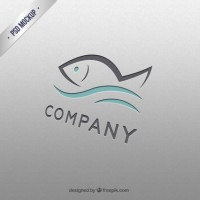 Fish logo template  PSD file |  Download