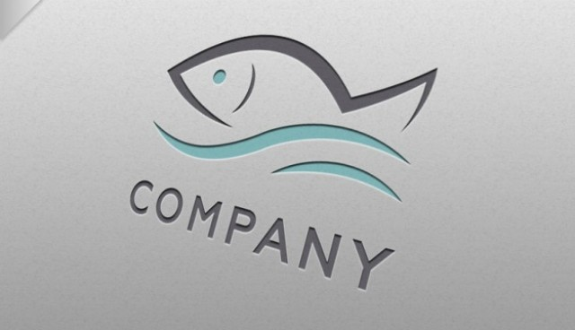 Fish logo template  PSD file |  Download