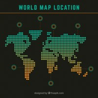 World map location  Vector |  Download