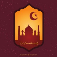 Eid mubarak badge  Vector |  Download