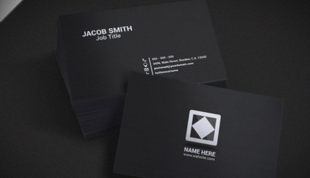 Dark busines card mockup  PSD file |  Download