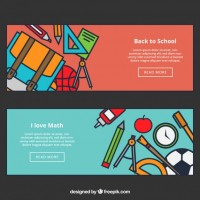 Back to school web banners  Vector |  Download