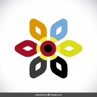 Floral colorful logo  Vector |  Download