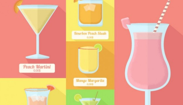 Different summer cocktails  Vector |  Download