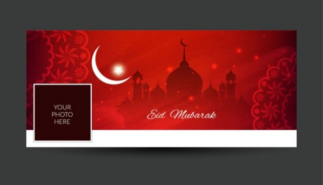 Eid mubarak facebook timeline cover  Vector |  Download