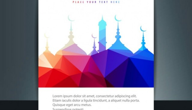 Ramadan kareem brochure   Vector |  Download