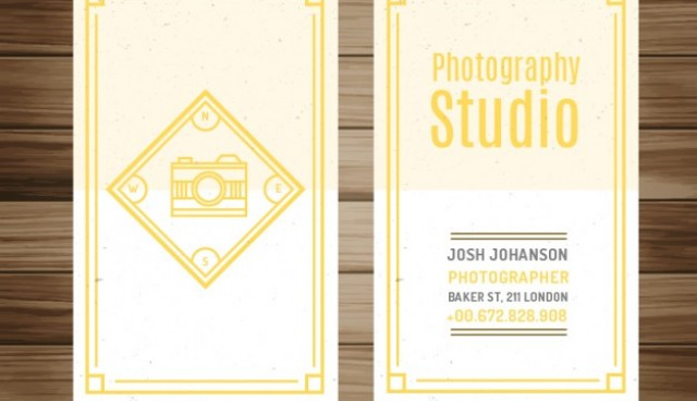 Photography studio flyer design  Vector |  Download
