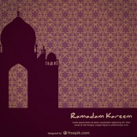 Mosque silhouette on mosaic bacground  Vector |  Download