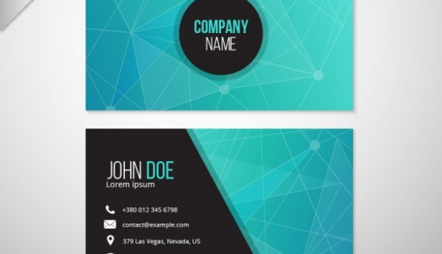 Abstract business card  Vector |  Download