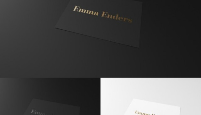 Elegant black and white business card  PSD file |  Download