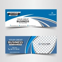 Blue abstract business header  Vector |  Download