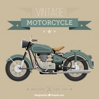 Vintage motorcycle  Vector |  Download