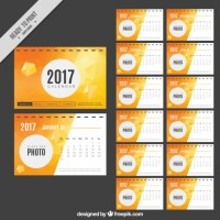 Abstract 2017 calendar   Vector |  Download