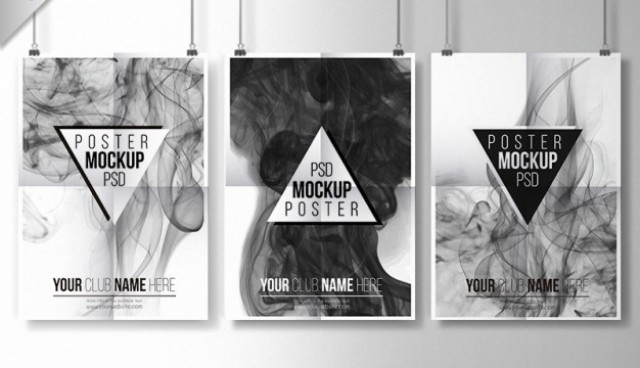 Smoky posters collection  PSD file |  Download