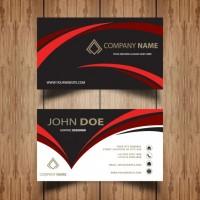 Dark wavy business card   Vector |  Download