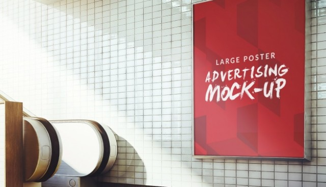 Underground poster mock up design  PSD file |  Download