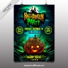 Halloween party poster of pumpkin  Vector |  Download