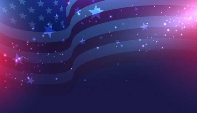 Beautiful american flag background  Vector |  Download