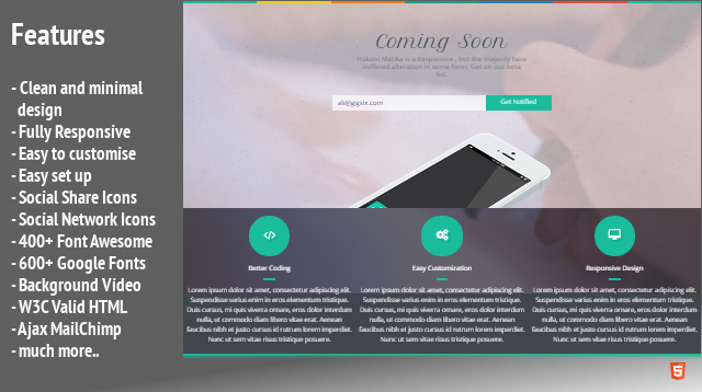 Hukoni Matika – Coming Soon HTML5 Template