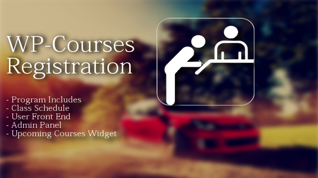 WordPress Courses Register Plugin