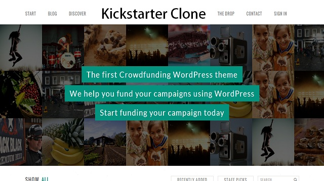 WordPress Kickstarter Crowdfunding Theme