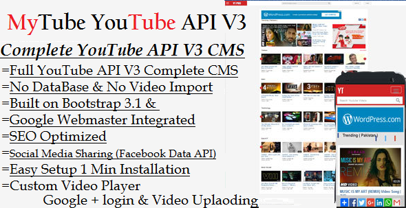 MyTube – YouTube API V3