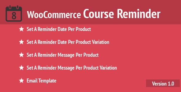 WooCommerce Course Reminder