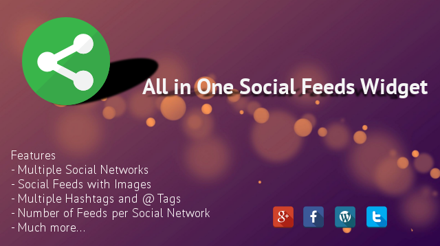 All In One Social Feeds Widget
