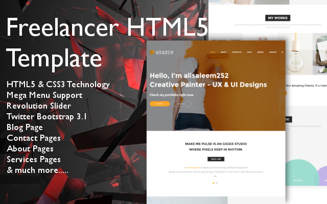Freelancer – HTML5 Bootstrap Theme