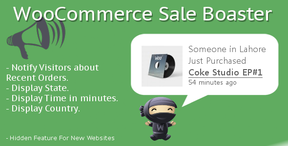 WooCommerce Sales Booster Bragger
