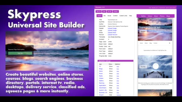 Skypress – HTML & Website Builder