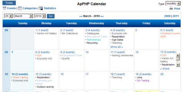 PHP Calendar Script Pro