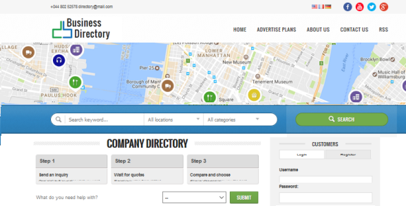 uBusinessDirectory – Business Directory PHP Script