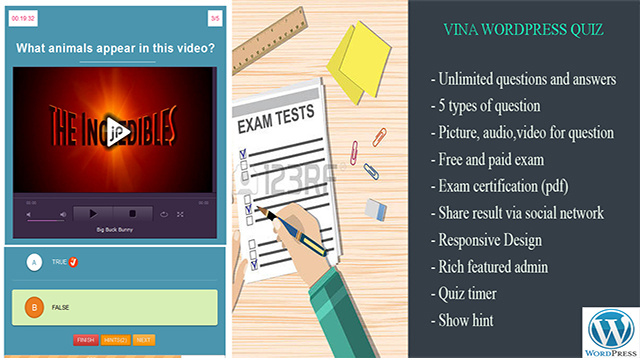 Vina WordPress Quiz Plugin